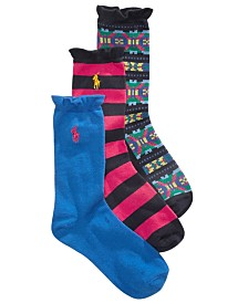 Polo Ralph Lauren Graphic Fair Isle Socks,  3-Pack