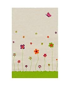 """ESTA Cream Soft Nursery Rug with a Playful Design - 72""""L x 54""""W Playmat"""