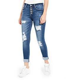Juniors' Ripped Cuffed Jeans