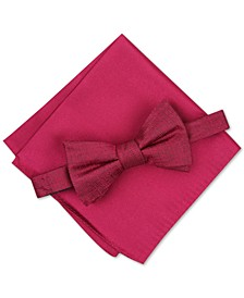 Men's Kelsey Solid Bow Tie Set, Created for Macy's