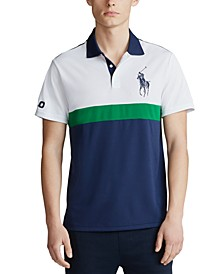 폴로 랄프로렌 Polo Ralph Lauren Mens Big & Tall Performance Pique Polo Shirt,Cruise Navy Multi