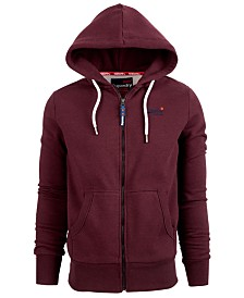Superdry Men's Orange Label Classic Logo Full-Zip Hoodie