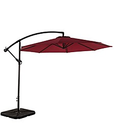 10' Cantilever Hanging Patio Umbrella with Base Weights