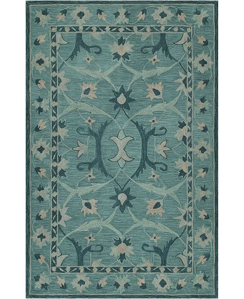 D Style CLOSEOUT! Torrey Tor6 Teal 9' X 13' Area Rugs