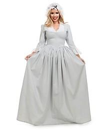BuySeasons Women's Colonial Woman Grey Adult Costume
