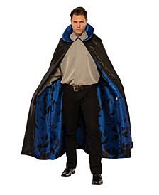 Men's Dark Night Blue Cape Adult Costume