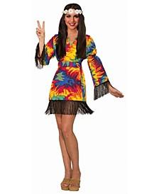 Women's Hippie Tie Dye Dress Adult Costume