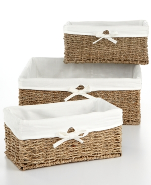 Household Essentials Storage Baskets, Set of 3 Seagrass