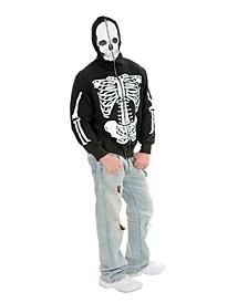 Men's Skeleton Hoodie Adult Costume