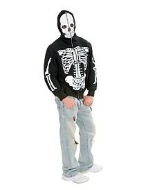 BuySeasons Men's Skeleton Hoodie Adult Costume