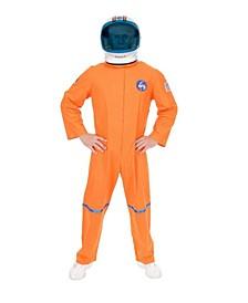 Men's Orange Astronaut Suit Plus Adult Costume