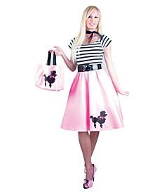 Women's Bubblegum Poodle Dress Adult Costume