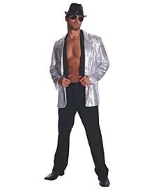 Silver Sequin Adult Jacket