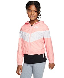 Big Girls Hooded Windrunner Jacket