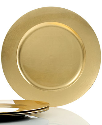 Charter Club Dinnerware Set Of 4 Gold Charger Plates