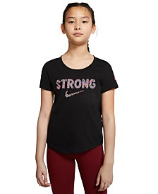 Nike Big Girls Strong-Print Cotton T-Shirt
