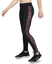 Nike Big Girls One Printed-Side Tights