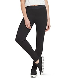 Logo Waistband Compression Ponte Legging