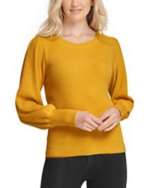 DKNY Blouson-Sleeve Sweater