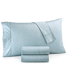 Hotel Collection Linear Texture King Sheet Set, Created for Macy's