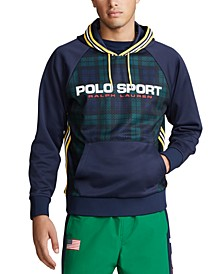 Men's Polo Sport Plaid Hoodie