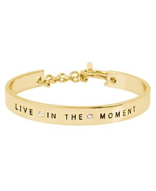 'LIVE IN THE MOMENT' Affirmation Toggle Bracelet