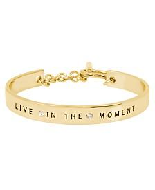 BCBGeneration 'LIVE IN THE MOMENT' Affirmation Toggle Bracelet