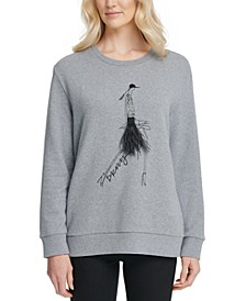 Graphic Embellished Sweatshirt