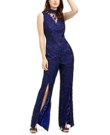 Abasi Embroidered Split-Leg Jumpsuit
