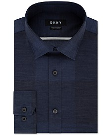 DKNY Men's Slim-Fit Stretch Kaihara Denim Dress Shirt