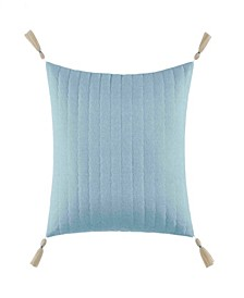"Locklear Aqua Quilted 16"" Square Decorative Pillow"