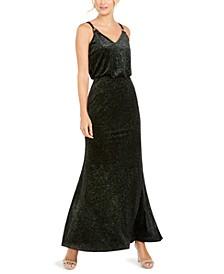 Shimmer Velvet Blouson Gown