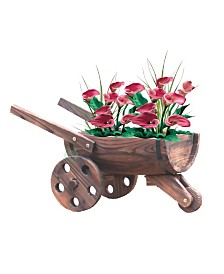 Gardenised Wheelbarrow Barrel Planter
