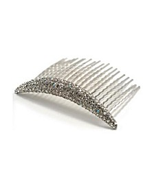 Curved Crystal Hair Comb