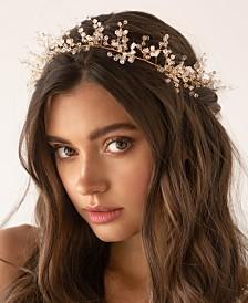 Soho Style Imitation Pearl Boho Bridal Hair Crown