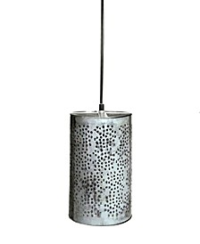 "Celestial ""Jaali"" Shade Pendant in Brushed Retro Zinc 25 Watt"