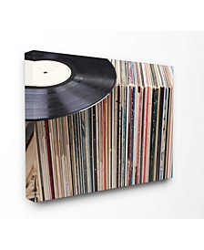 Vintage-Inspired Records Display Art Collection