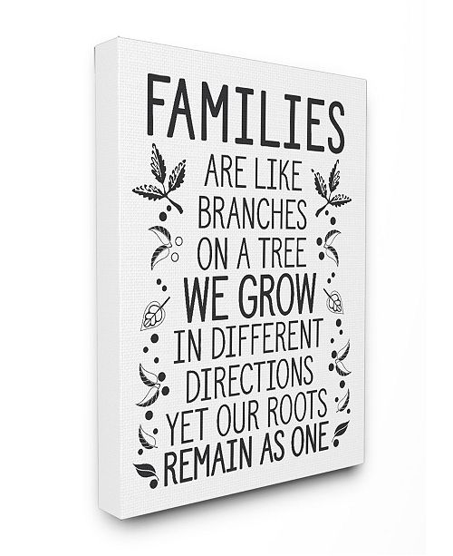"Stupell Industries Families Are Like Branches Canvas Wall Art, 16"" x 20"""