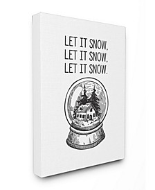 Christmas Let It Snow Globe Art Collection