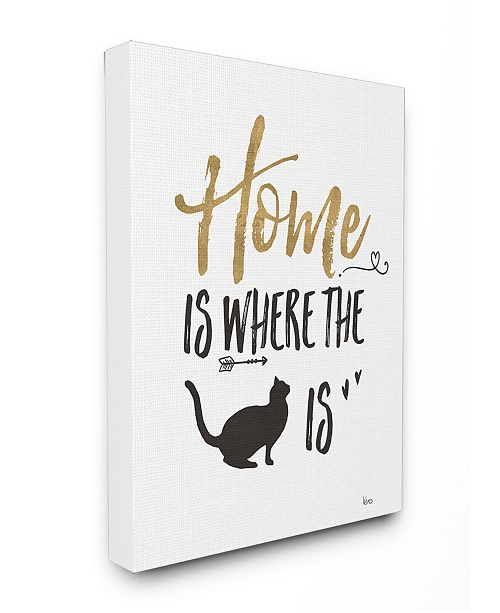 "Stupell Industries Cat Lover Typography Canvas Wall Art, 16"" x 20"""