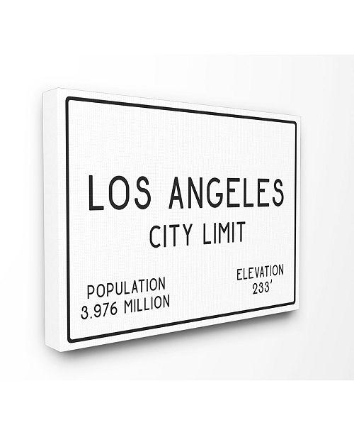 "Stupell Industries LA City Limit Canvas Wall Art, 24"" x 30"""