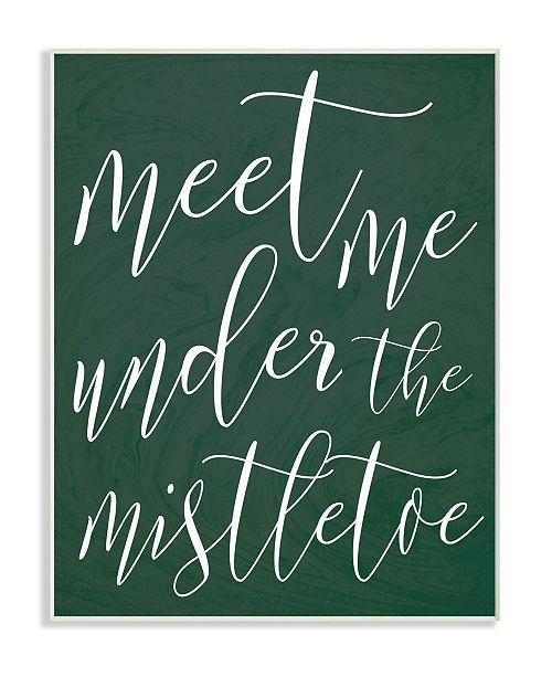 "Stupell Industries Meet Me Under the Mistletoe Christmas Wall Plaque Art, 12.5"" x 18.5"""