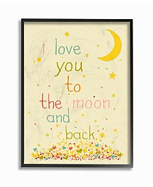 """Stupell Industries Home Decor I Love You To The Moon and Back Framed Giclee Art, 11"""" x 14"""""""