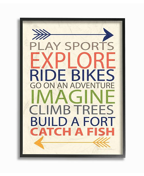 "Stupell Industries Home Decor Typography Art, A Kid's To-Do List with Arrows Framed Giclee Art, 11"" x 14"""