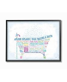 "Stupell Industries Home Decor Splish Splash Typography Bathroom Framed Giclee Art, 16"" x 20"""