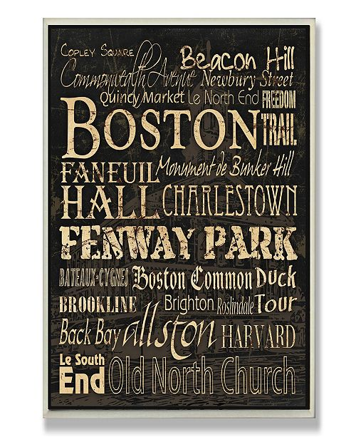 Home Decor Boston: Stupell Industries Home Decor Boston Words And Cities