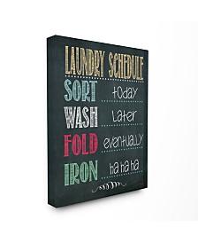"Stupell Industries Home Decor Laundry Schedule Chalkboard Bathroom Canvas Wall Art, 16"" x 20"""