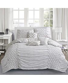 Brown & Grey Carnival 6-Piece Comforter Set - Queen