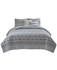 Chloe 5-Piece Quilt Set - Full/Queen