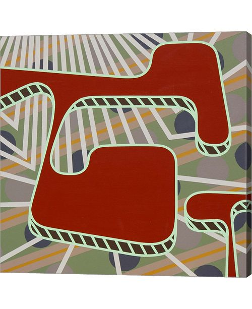 """Metaverse Lines Project 75 by Eric Carbrey Canvas Art, 36"""" x 36"""""""